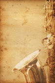 Old saxophon paper — Stock Photo