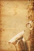 Vieux papier saxophon — Photo