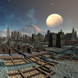 Royalty-Free Stock Photo: Alien Cityscape on Sudor - Fantasy Planet Part 02