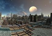 Alien Cityscape on Sudor - Fantasy Planet Part 02 — Stock Photo