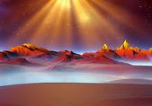 Planet Of Souls - Alien Landscape 02 — Stock Photo