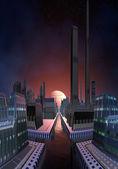 Futuristic Cityscape 05 — Stock Photo