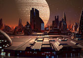 Futuristiska stadsbilden 09 — Stockfoto