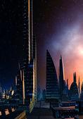 Futuristic Cityscape 11 — Stock Photo