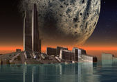 Alien Planet Gora 07 — Stock Photo