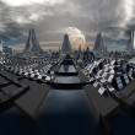 Fictional City Skyline 04 Option A — Stock Photo