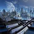 Foto de Stock  : Fictional City Skyline 06 Option A