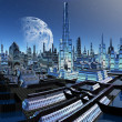 Stock Photo: Fictional City Skyline 06 Option B