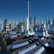 Fictional City Skyline 06 Option C — Stock Photo #7353088