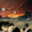 Alien Planet Traos 03 — Stock Photo