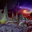 Andara Alien Planet part 3 — Stock Photo