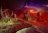 Andara Alien Planet part 2 — Stock Photo