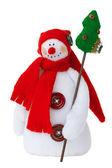 Smiling snowman toy — Stock Photo
