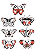 Costumes de papillons — Vecteur