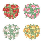 Bouquet in color variations — Stock Vector