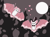 Bats in love — Stock Vector