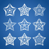 Star set — Stock Vector