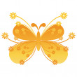 Vector floral butterfly — Stock Vector