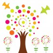 Colorful vector tree — Stock Vector