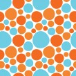 Vector circles seamless pattern — Stock Vector