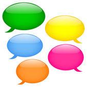 Glossy speech bubbles — Stock Vector