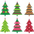 Christmas trees collection — Stock Vector #7589657