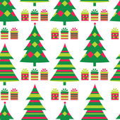 Christmas tree seamless vector — Stock Vector