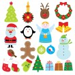 Christmas set — Stock Vector #7868099