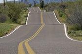 Bumpy Rural Road — Stock Photo