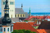 Panoramic view on old town of Tallinn — Stock Photo