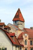 Budynki w starym tallinie — Zdjęcie stockowe