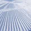 Stock Photo: Snowcat trace on snow