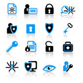 Anti-virus icons — Stock Vector