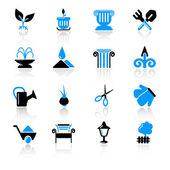 Garden icons — Stock Vector