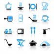 Kitchen utensil icons — Stock Vector