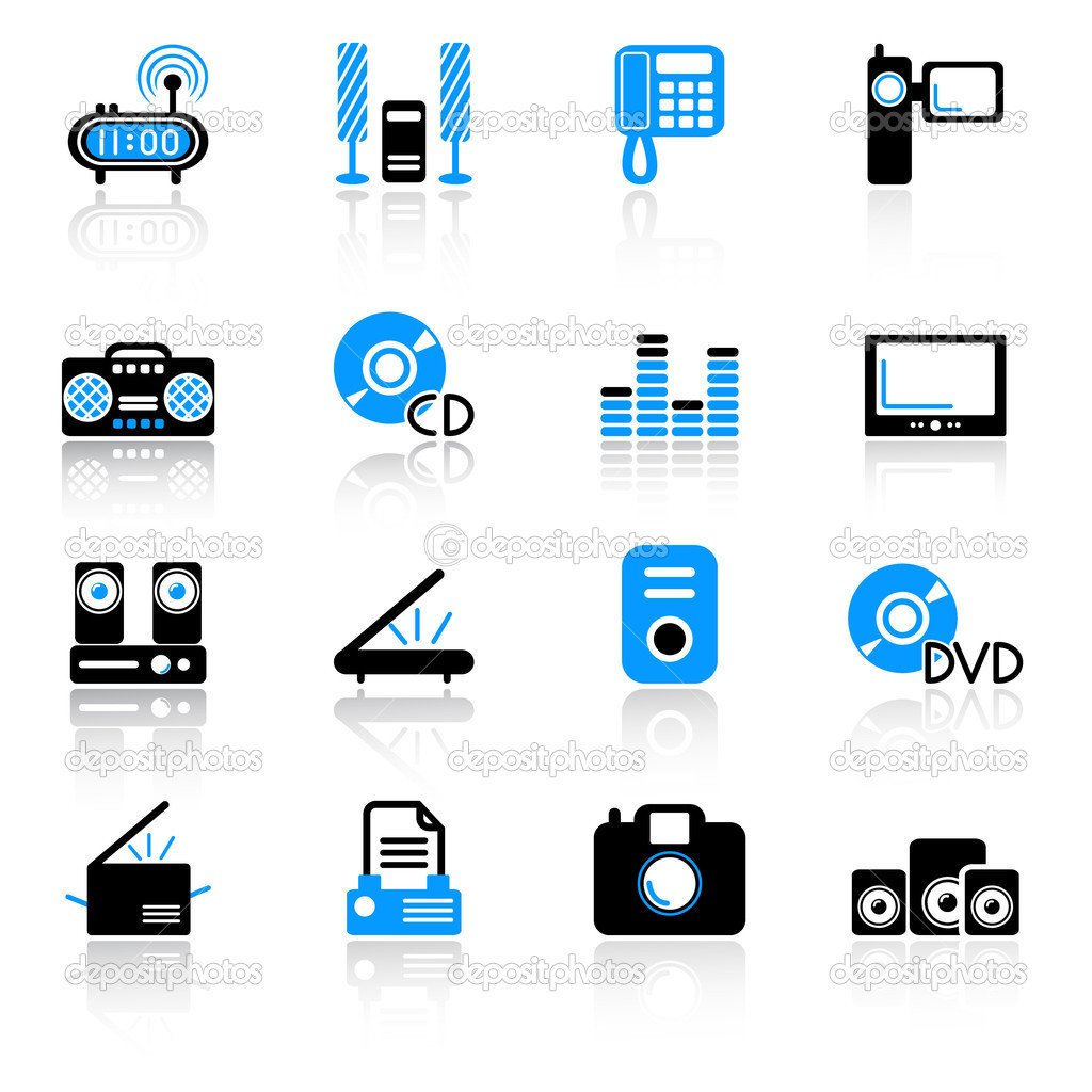 Media icons — Stock Vector #7263566