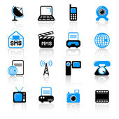 ícones de uma comunicação — Vetor de Stock