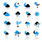 Icônes météo — Vecteur