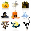 Halloween icons — Stock Vector #7328168