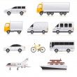 Transport icons — Stock Vector #7328178