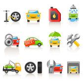 Auto service icons — Stock Vector