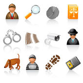 Icon set for detective agency — Stock Vector