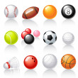 Sport equipment icons — Stock Vector