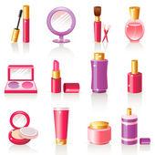 化粧品のアイコン. — ストックベクタ