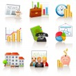 Business and finance icons — Stock Vector #7624427