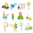 Ecology and fuel icons - Stock Vector