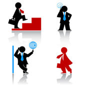 Business human icons — Stock Vector