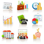 Business and finance icons — Stock Vector