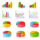 Gráficos de negócios — Vetorial Stock