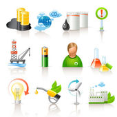 Ecology and fuel icons — Stock Vector